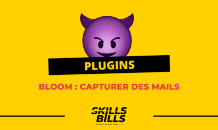 Mise en place de l'extension Bloom pour faire de la capture de mails